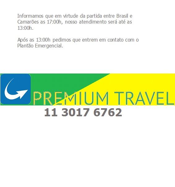 Horário de atendimento Premium Travel