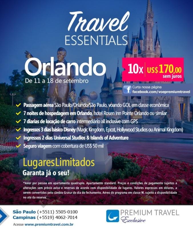 Vem pra Orlando com a Premium