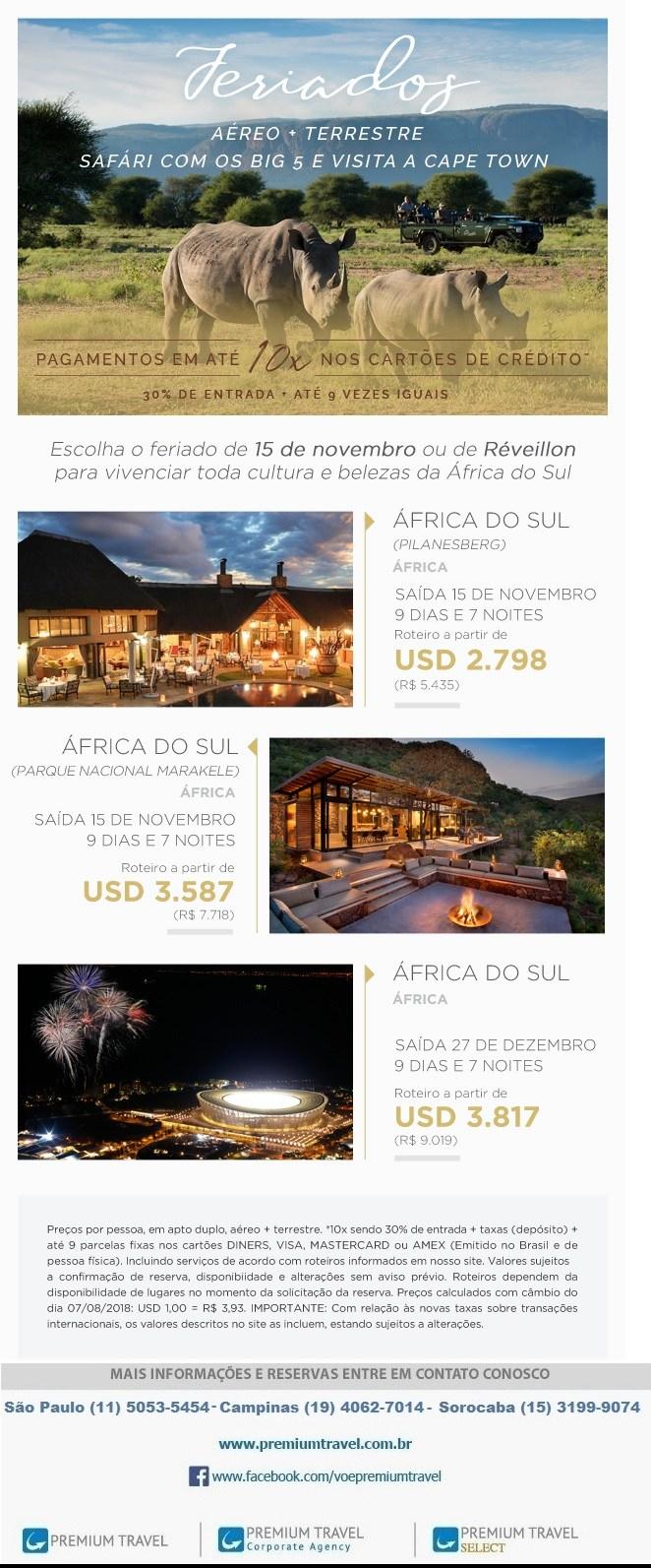 Aproveite seu feriado! Desvende a África do Sul!